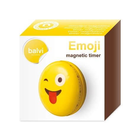 kitchen emoji kitchen timer magnetic emoji 01 balvi 26629