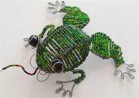 beaded frog wire beaded frog beadwork