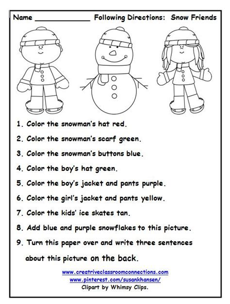 printable following directions worksheet 154 best images about following directions on pinterest