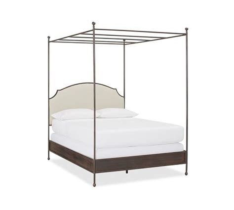 how to make a canopy bed without posts aberdeen canopy bed pottery barn home bedroom