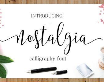 Calligraphy font   Etsy