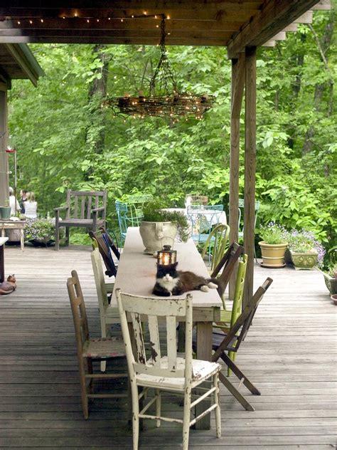 rustic outdoor spaces repurposing  reusing salvaged