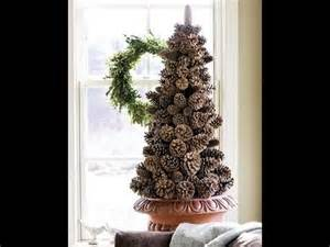 Christmas tree made from pine cones diy youtube
