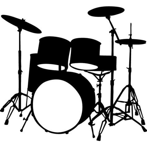 Wall Murals Maps drum kit wall sticker instruments music wall decal kids