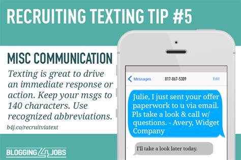 5 Templates For A Successful Text Recruiting Program Blogging4jobs Recruiting Text Templates