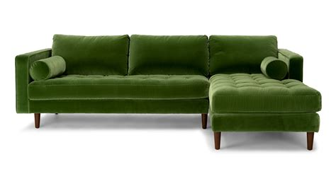 Green Sectional Sofa Sven Grass Green Right Sectional Sofa Sectionals Article Modern Mid Century And