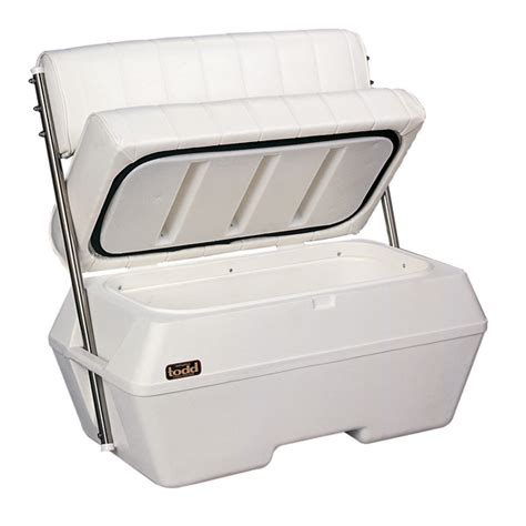 boat bench seats with storage todd deluxe dry storage swingback seat west marine