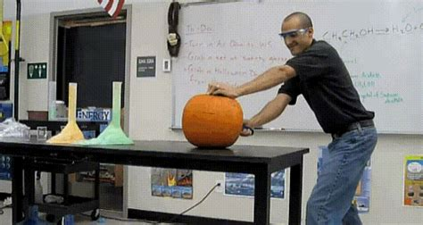 pumpkin carving gif find share  giphy