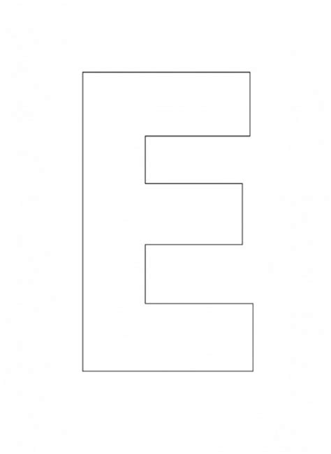 alphabet letter e template for kids the letter e