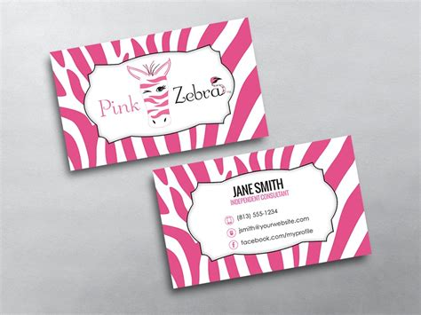 Pink Zebra Business Cards Free Shipping Pink Zebra Business Card Template Free