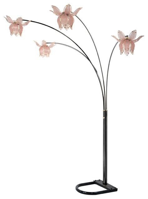 flower arch floor lamp brass black shades black pink