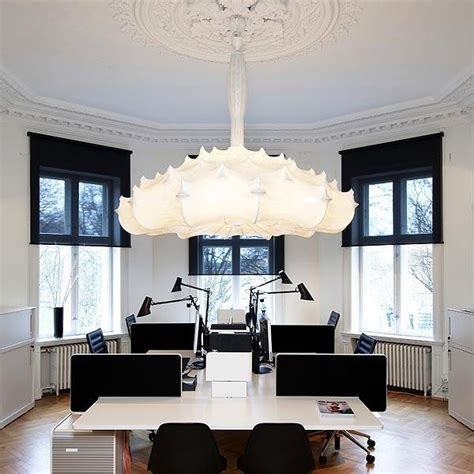 "Elegant pendant lamp with diffuse light ""Zeppelin"" by"