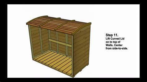 garbage  storage shed oscar assembly video  outdoor