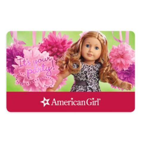 American Girl Gift Card - birthday party gift card giftcard american girl