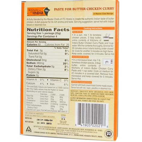 Kitchens Of India Butter Chicken by Kitchens Of India Paste For Butter Chicken Curry 3 5 Oz