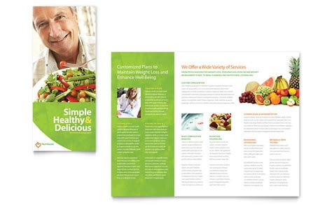 nutritionist dietitian tri fold brochure template word