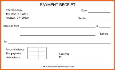paid in receipt template search results for free printable receipt book