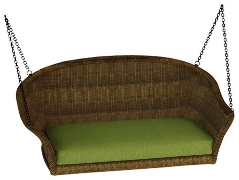 Outdoor Swing Sofa by Rockport Wicker Patio Swing Canvas Parrot Cushions