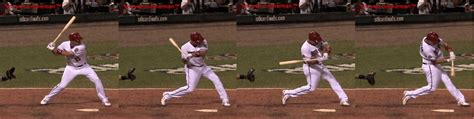baseball swing sequence front leg not locked