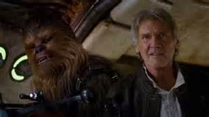 Harrison Ford Chewbacca The New Wars The Awakens Trailer