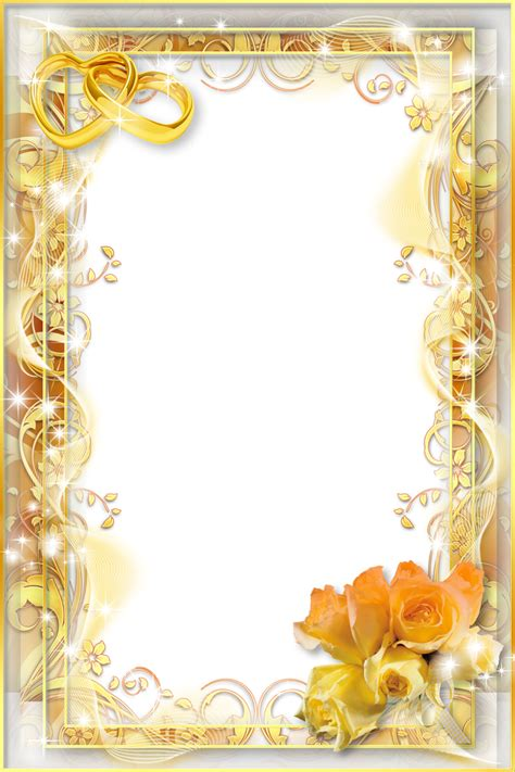 wedding png templates wedding flower png yellow wedding png photo frame