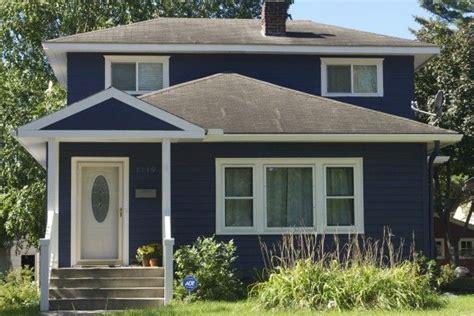 blue stucco house navy blue house house color house