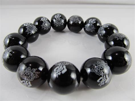 10 Kg Black Jade Ceh Giok wholesale xinjiang black jade bracelet carving fo bring luck agate in charm bracelets
