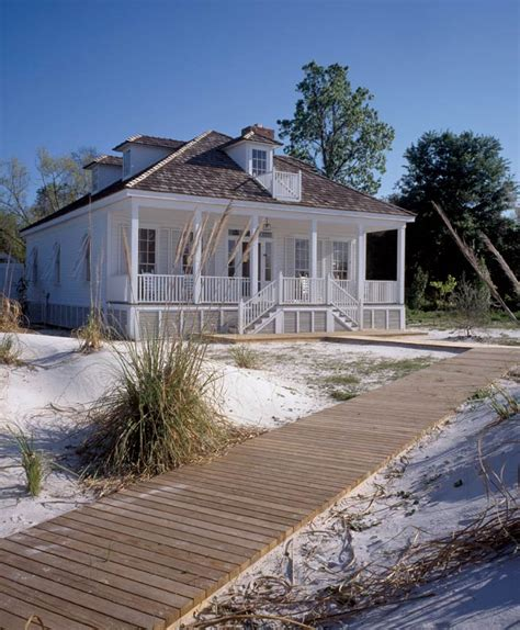 Charming Bungalow Beach House Plans #1: French-creole-cottage-exterior.jpg