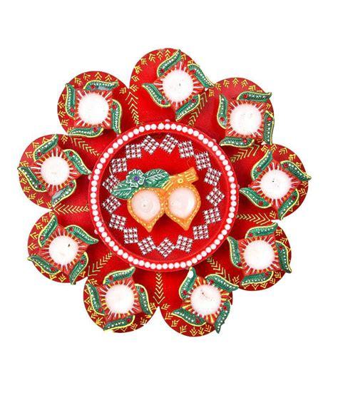 Handmade Rangoli - airnet decorative handmade aarti rangoli thali for diwali