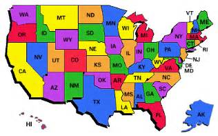 A Map Of The 50 States by 50 States State Guides State Maps State Flags Amp More
