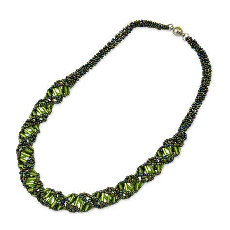 green beaded necklace dna green beaded necklace 18 quot