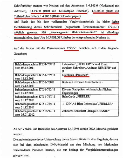 Lebenslauf Vorlage Zahnarzt Nsu Bekennervideo Drehbuch Autoren Mit Quot Geringer Wahrscheinlichkeit Quot B 246 Hnhardt Mundlos