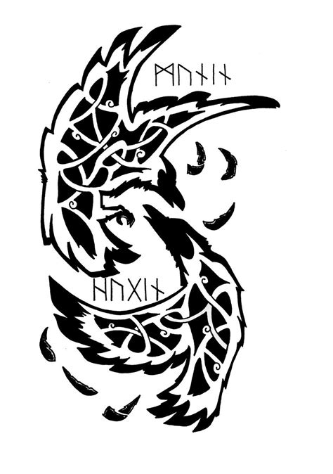 odin s ravens tattoo odin s ravens ideas ravens