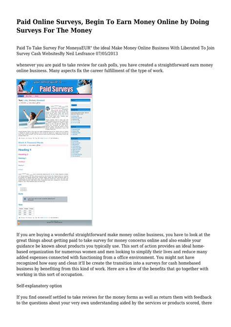 Money For Doing Surveys Online - online surveys rewards canada earn money doing surveys