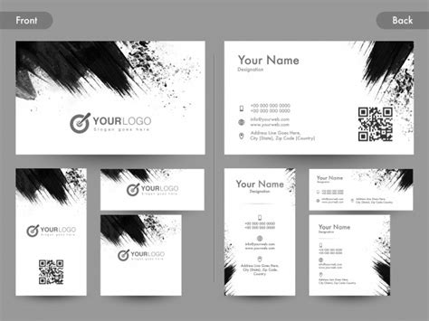 business card backside template vertival front and back page view of horizontal and vertical