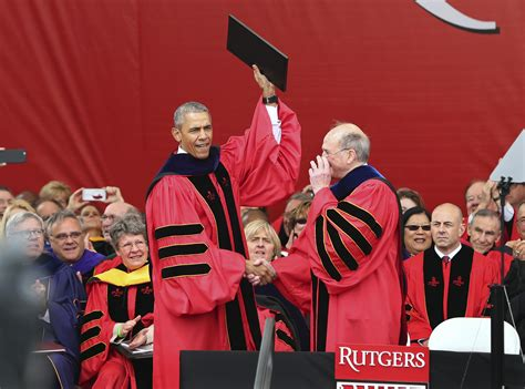 Business Rutgers Edu Mba Graduation by Piscataway Nj Rebuking Obama Tells Graduates
