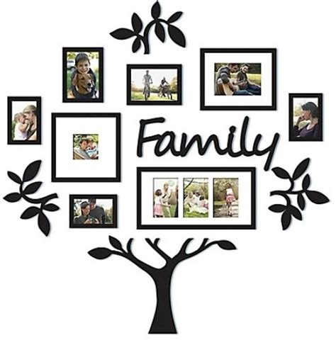 family collage frame 13 family tree set hallway photo wall collage frame