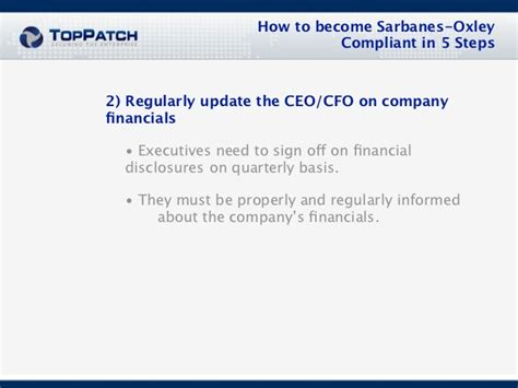 sarbanes oxley act section 802 how to become sarbanes oxley compliant in 5 steps