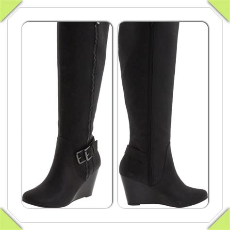 70 bcbg boots brand new bcbg black leather knee