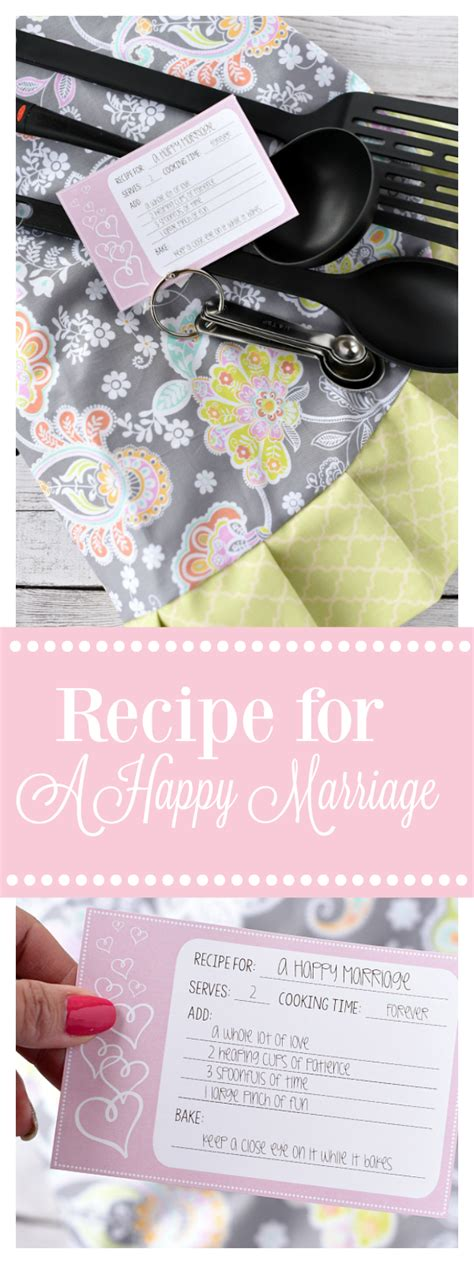 recipe bridal shower gift ideas bridal shower gift idea recipe for a happy marriage