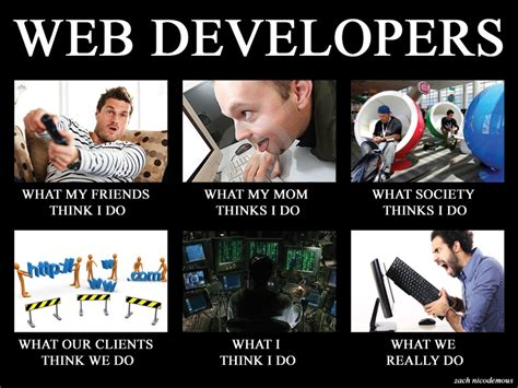 Web Developer Meme - the real business of web design not so magical adventures