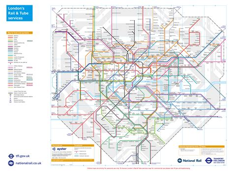the underground map and rail transport for