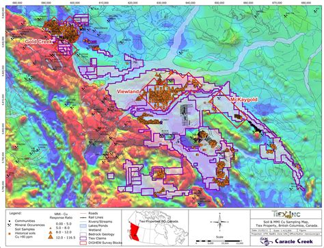 maps cu tiex commences airborne electromagnetic and magnetic survey cariboo goldfields property