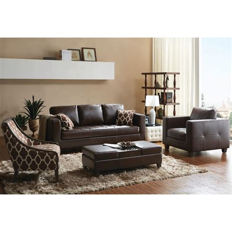 Accent Chair With Brown Leather Sofa Brown Sofa With Gray