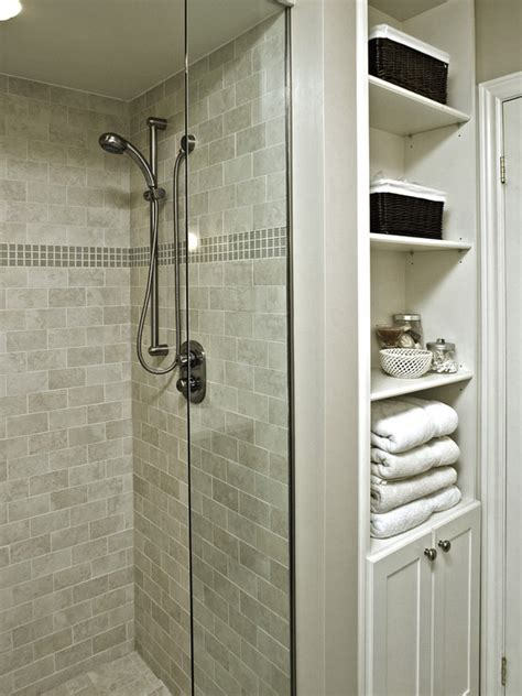 built in linen closet idea small bathroom design pictures