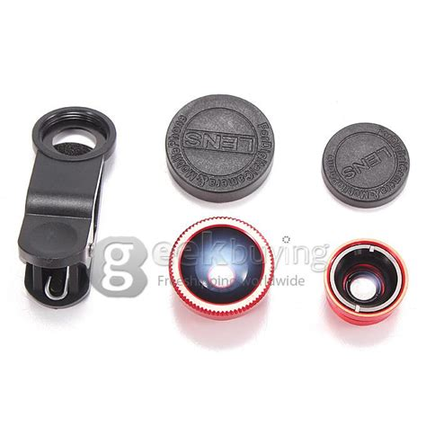 Universal Fish Eye 3in1 Lens universal 3in1 clip on fish eye wide angle macro lens for