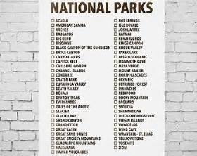 us map checklist printable list of national parks gameshacksfree
