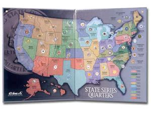 us quarter map books about coin collecting state quarter maps supplies