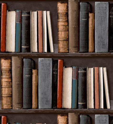 Shabby Bookcase Papel Pintado Estanter 237 A Vintage De Libros Antiguos 40989