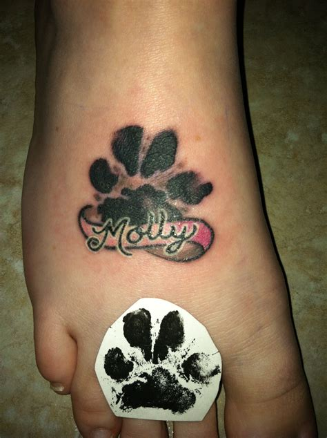 dog paw print tattoos memorial tattoos paw print s on paw